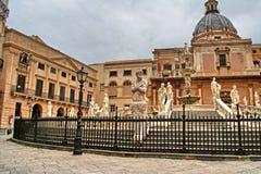 Παλέρμο, Σικελία, Ιταλία, fontana Πραιτώρια, παλαιά πόλη, Στοκ φωτογραφίες με δικαίωμα ελεύθερης χρήσης