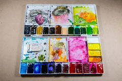 Παλέτα ζωγραφικής χρώματος Στοκ εικόνα με δικαίωμα ελεύθερης χρήσης