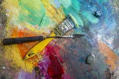 Παλέτα τέχνης στοκ εικόνες με δικαίωμα ελεύθερης χρήσης
