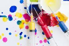 Παλέτα, τέχνη του χρώματος Στοκ φωτογραφία με δικαίωμα ελεύθερης χρήσης