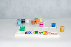 παλέτα χρωμάτων Στοκ φωτογραφία με δικαίωμα ελεύθερης χρήσης