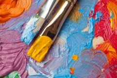 Παλέτα χρώματος με τα πολύχρωμα χρώματα Στοκ εικόνες με δικαίωμα ελεύθερης χρήσης