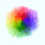 Παλέτα watercolor κύκλων ουράνιων τόξων Αμερικανός διακοσμεί διανυσματική έκδοση συμβόλων σχεδίου την πατριωτική καθορισμένη Στοκ φωτογραφία με δικαίωμα ελεύθερης χρήσης