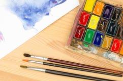Παλέτα Watercolor Στοκ Εικόνες