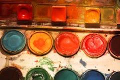 Παλέτα Watercolor Στοκ φωτογραφία με δικαίωμα ελεύθερης χρήσης