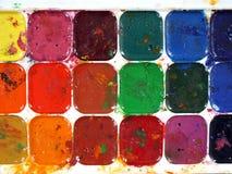 Παλέτα Watercolor Στοκ φωτογραφίες με δικαίωμα ελεύθερης χρήσης