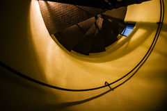 Παλαιά άνεμος σκαλοπάτια εκκλησιών Στοκ φωτογραφία με δικαίωμα ελεύθερης χρήσης