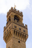 Παλαιά άποψη λεπτομέρειας πύργων κουδουνιών παλατιών, Φλωρεντία Στοκ εικόνες με δικαίωμα ελεύθερης χρήσης