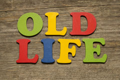 Παλαιά έννοια ζωής Στοκ Φωτογραφίες