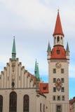 Παλαιά αίθουσα πόλεων στο Μόναχο, γερμανικά Στοκ Εικόνες