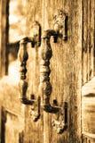 παλαιά λαβή πορτών Στοκ εικόνα με δικαίωμα ελεύθερης χρήσης