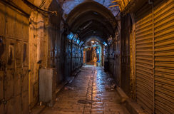 Παλαιά αγορά πόλεων της Ιερουσαλήμ Στοκ Φωτογραφία