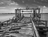 Παλαιά αποβάθρα στο ναυπηγείο ναυτικού της Φιλαδέλφειας Στοκ Εικόνες