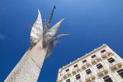 Παλαιά αποικιακά κτήρια στην πλατεία Plaza Vieja, Αβάνα, Κούβα Στοκ Φωτογραφίες
