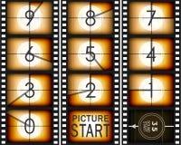 Παλαιά αρίθμηση mowie κάτω Στοκ εικόνες με δικαίωμα ελεύθερης χρήσης