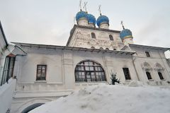Παλαιά αρχιτεκτονική του πάρκου Kolomenskoye Kazan καθεδρικός ναός εικονιδίων Στοκ Εικόνα