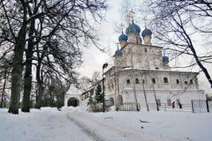 Παλαιά αρχιτεκτονική του πάρκου Kolomenskoye Kazan καθεδρικός ναός εικονιδίων Στοκ φωτογραφίες με δικαίωμα ελεύθερης χρήσης