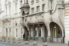 Παλαιά αρχιτεκτονική Cluj-Napoca, αυστροούγγρη αυτοκρατορία Στοκ Εικόνες
