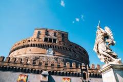 Παλαιά αρχιτεκτονική Sant ` Angelo Castel στη Ρώμη, Ιταλία Στοκ φωτογραφία με δικαίωμα ελεύθερης χρήσης