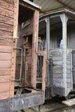 Παλαιά ατμομηχανές και βαγόνια εμπορευμάτων Στοκ φωτογραφία με δικαίωμα ελεύθερης χρήσης