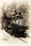 Παλαιά ατμομηχανή στοκ εικόνα
