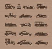 Παλαιά αυτοκίνητα. Διανυσματικό σχήμα Στοκ φωτογραφίες με δικαίωμα ελεύθερης χρήσης