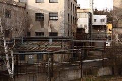 παλαιά αυλή εργοστασίων Στοκ εικόνα με δικαίωμα ελεύθερης χρήσης