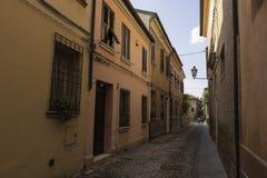 Παλαιά αλέα στη φερράρα Ιταλία Στοκ Φωτογραφία
