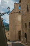 Παλαιά αλέα στο κέντρο Monteleone Di Spoleto Στοκ φωτογραφία με δικαίωμα ελεύθερης χρήσης
