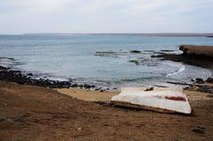 Παλαιά βάρκα στην Αφρική Στοκ Εικόνες
