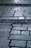 Παλαιά βήματα οδών Στοκ Εικόνα