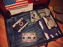 Παλαιά βαλίτσα ταξιδιού Στοκ Εικόνα