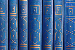 Παλαιά βιβλία σε ένα ξύλινο ράφι Στοκ φωτογραφίες με δικαίωμα ελεύθερης χρήσης