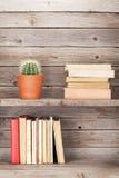 Παλαιά βιβλία σε ένα ξύλινο ράφι Στοκ εικόνα με δικαίωμα ελεύθερης χρήσης