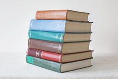 Παλαιά βιβλία χρώματος στο άσπρο υπόβαθρο Στοκ φωτογραφία με δικαίωμα ελεύθερης χρήσης