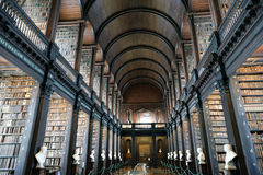 Παλαιά βιβλιοθήκη, κολλέγιο τριάδας, Δουβλίνο, Ιρλανδία Στοκ Φωτογραφίες