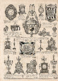 Παλαιά βικτοριανά αντικείμενα και collectibles εφημερίδα παλαιά αναδρομικός Στοκ εικόνα με δικαίωμα ελεύθερης χρήσης