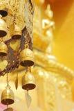 Παλαιά βουδιστικά κουδούνια ορείχαλκου Στοκ Εικόνα