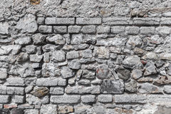 Παλαιά βρώμικη γκρίζα σύσταση τοίχων πετρών Στοκ εικόνα με δικαίωμα ελεύθερης χρήσης