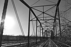 Παλαιά γέφυρα έξω δευτερεύον Oolagah Οκλαχόμα Στοκ Εικόνες