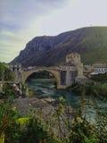 Παλαιά γέφυρα Μοστάρ στοκ εικόνες