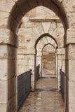 Παλαιά γέφυρα πετρών με τα archs Teruel Αρχιτεκτονική Backgrou Στοκ εικόνα με δικαίωμα ελεύθερης χρήσης