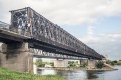 Παλαιά γέφυρα σιδηροδρόμων σε Tczew, Πολωνία Στοκ Φωτογραφία