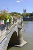 Παλαιά γέφυρα στη Angers στη Γαλλία Στοκ Εικόνες