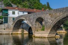 Παλαιά γέφυρα του ποταμού Cernojevica Στοκ Εικόνα