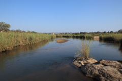 Παλαιά γέφυρα τραίνων πέρα από τον ποταμό Sabie, εθνικό πάρκο Kruger, Νότια Αφρική Στοκ εικόνες με δικαίωμα ελεύθερης χρήσης