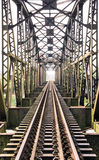 Παλαιά γέφυρα τραίνων Στοκ Εικόνες