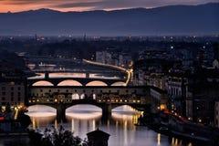 Παλαιά γέφυρα ΧΙΙ της Φλωρεντίας Στοκ φωτογραφία με δικαίωμα ελεύθερης χρήσης