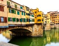 Παλαιά γέφυρα Vecchio Ponte στη Φλωρεντία, Ιταλία Στοκ εικόνα με δικαίωμα ελεύθερης χρήσης