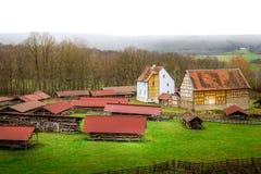 Παλαιά γερμανικά σπίτια στη φύση Στοκ Εικόνες